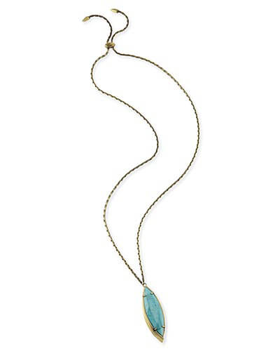 Kendra Scott - Milla Long Necklace in Variegated Turquoise Photo