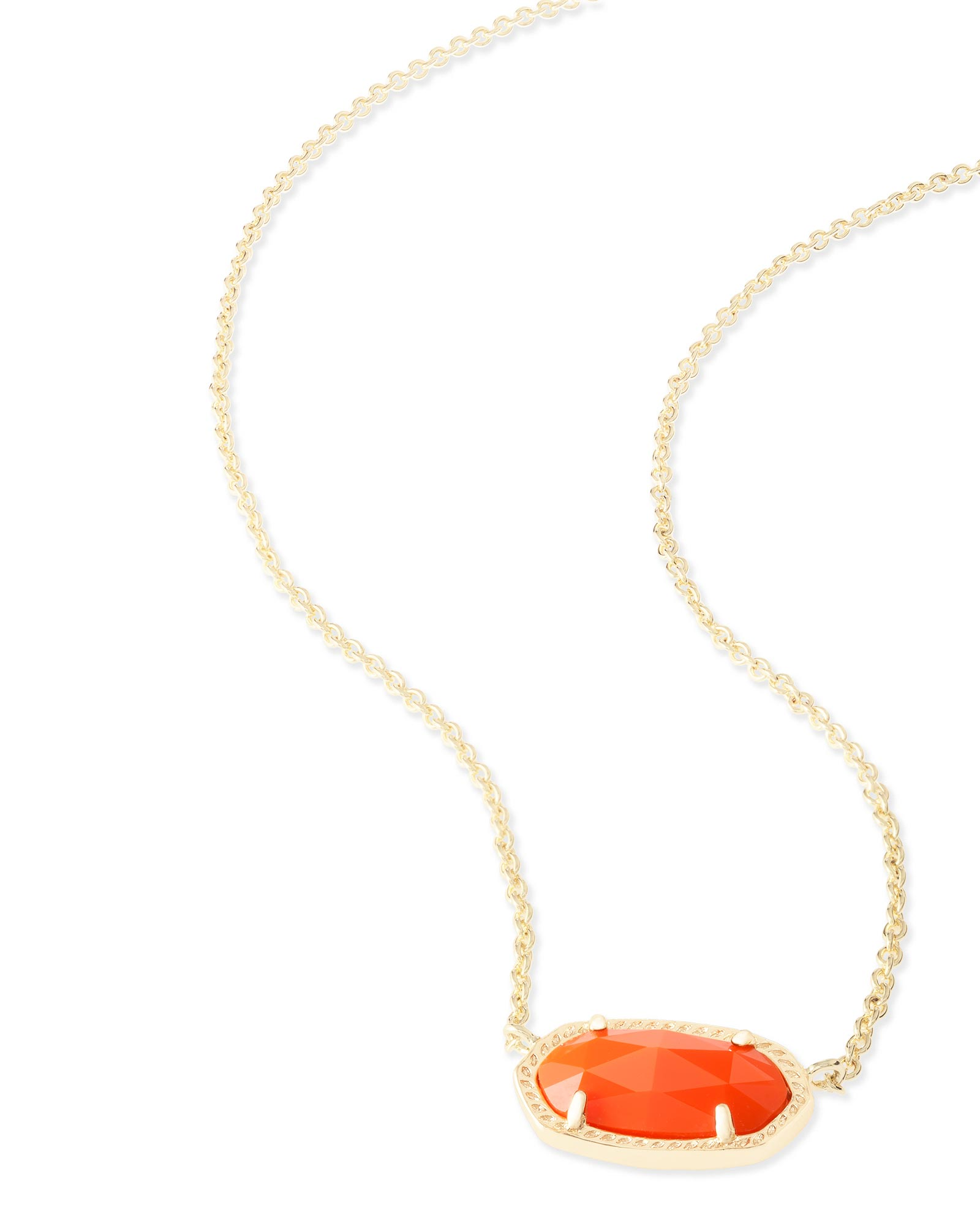 Elisa Pendant Necklace in Orange