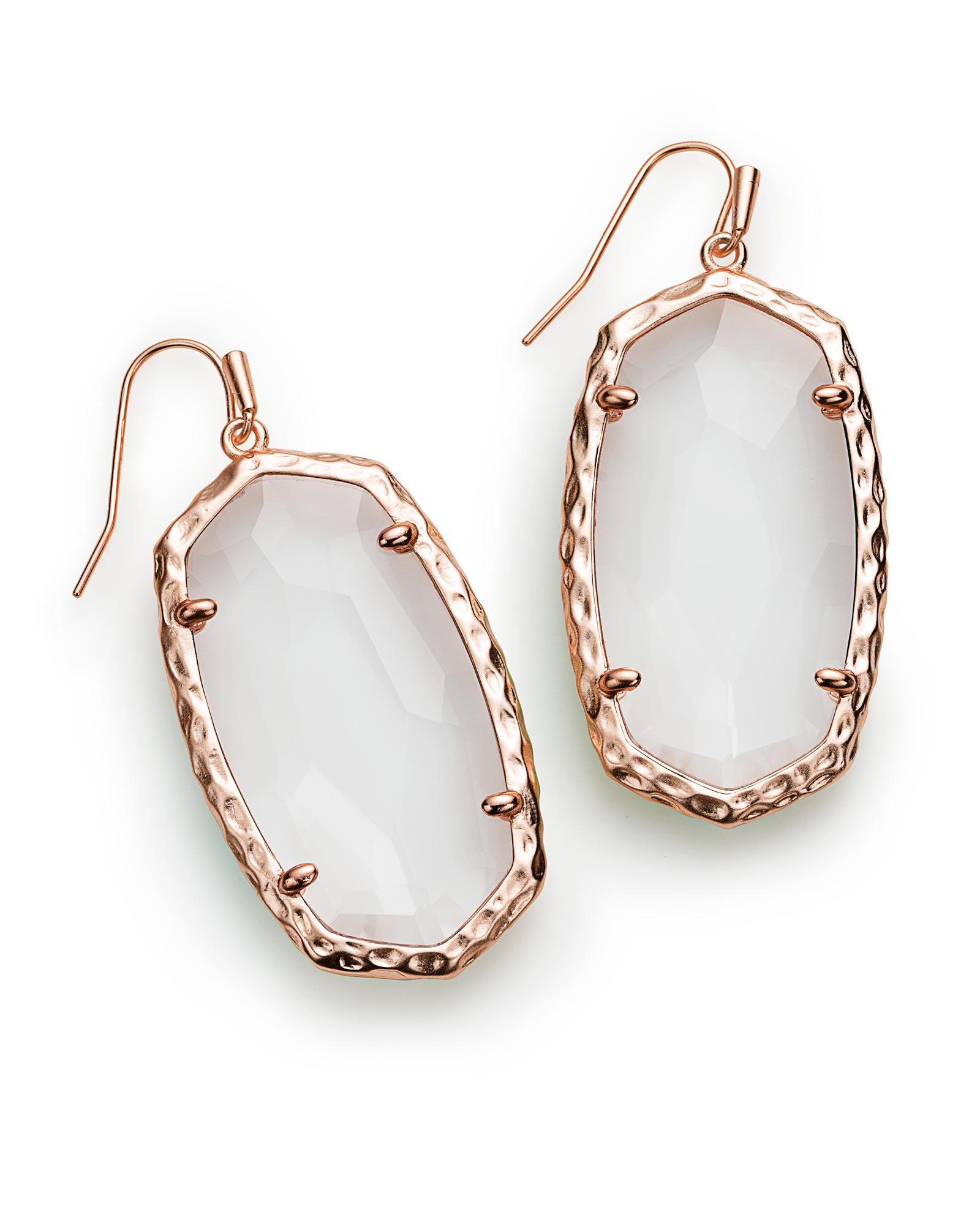 Ella Drop Earrings In Clear Crystal