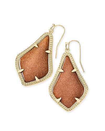 Alex Earrings in Goldstone