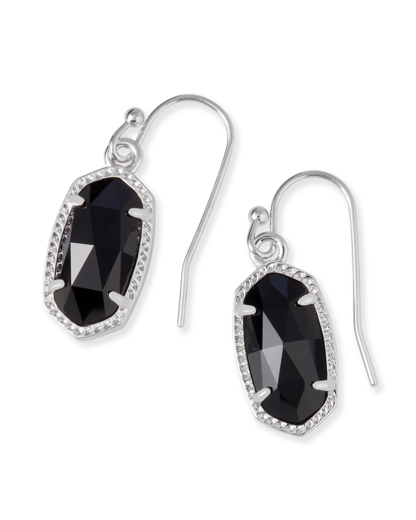 Lee Silver Earrings In Black