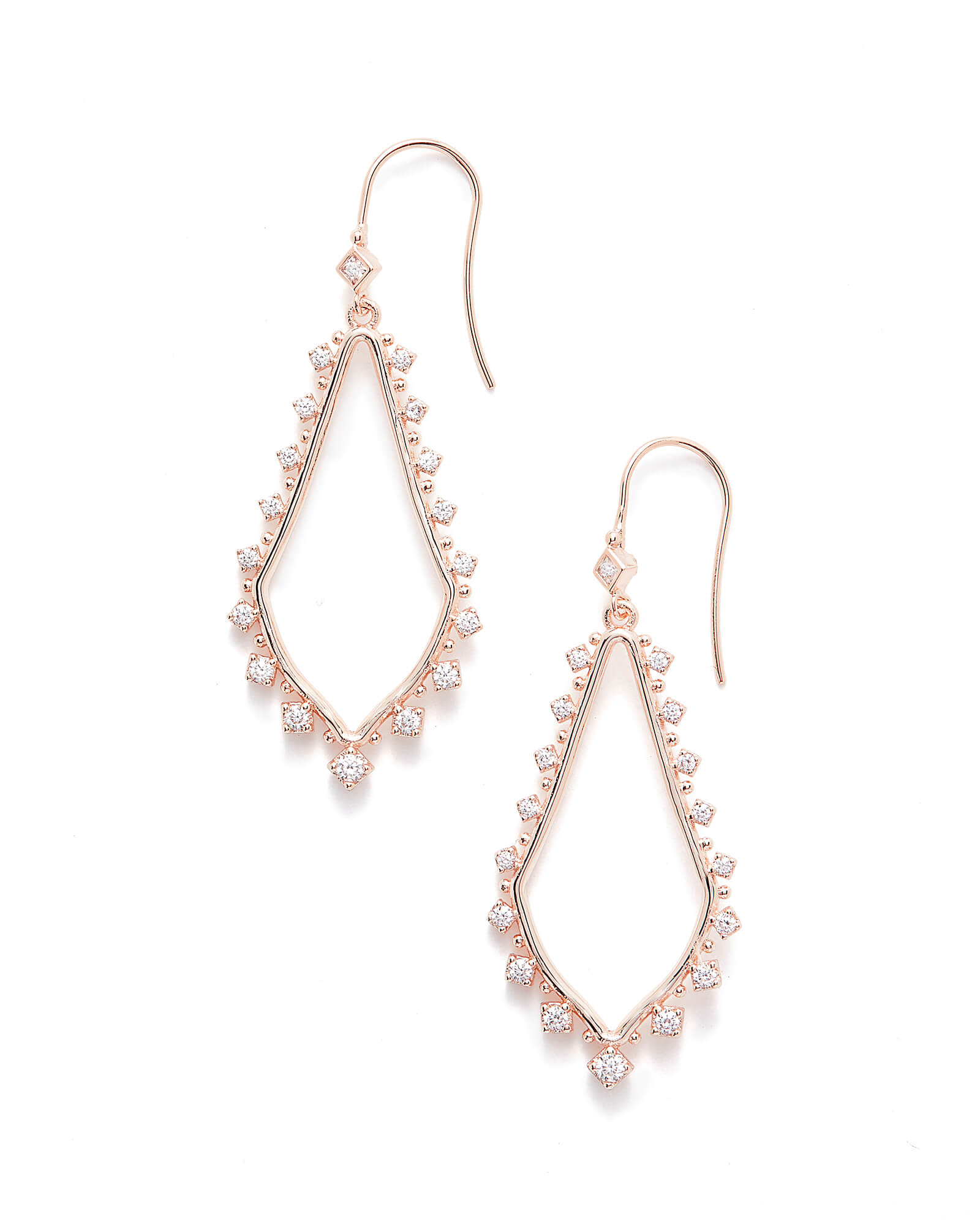 Bea Drop Earrings in Rose Gold