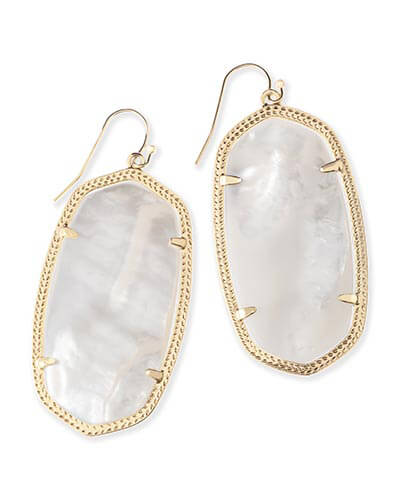 Danielle Earrings in Ivory Pearl