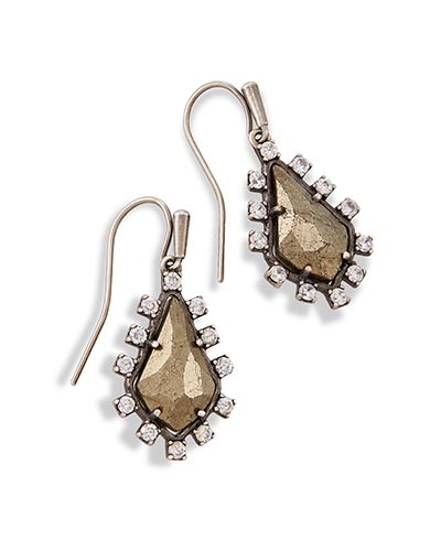 Juniper Drop Earrings in Pyrite