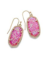 Dani Drop Earrings in Fuchsia Kyocera Opal