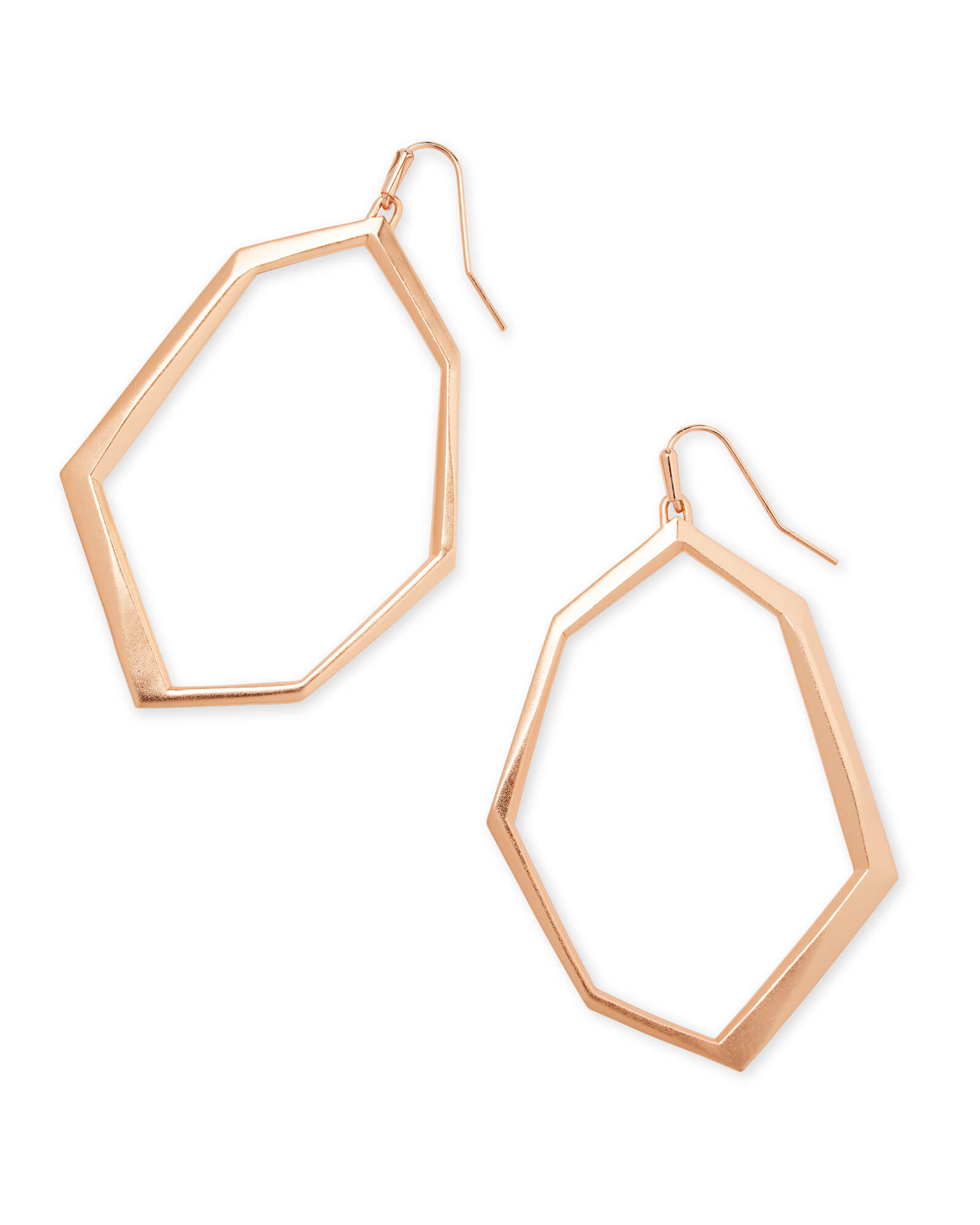 Lindsey Drop Earrings In Rose Gold