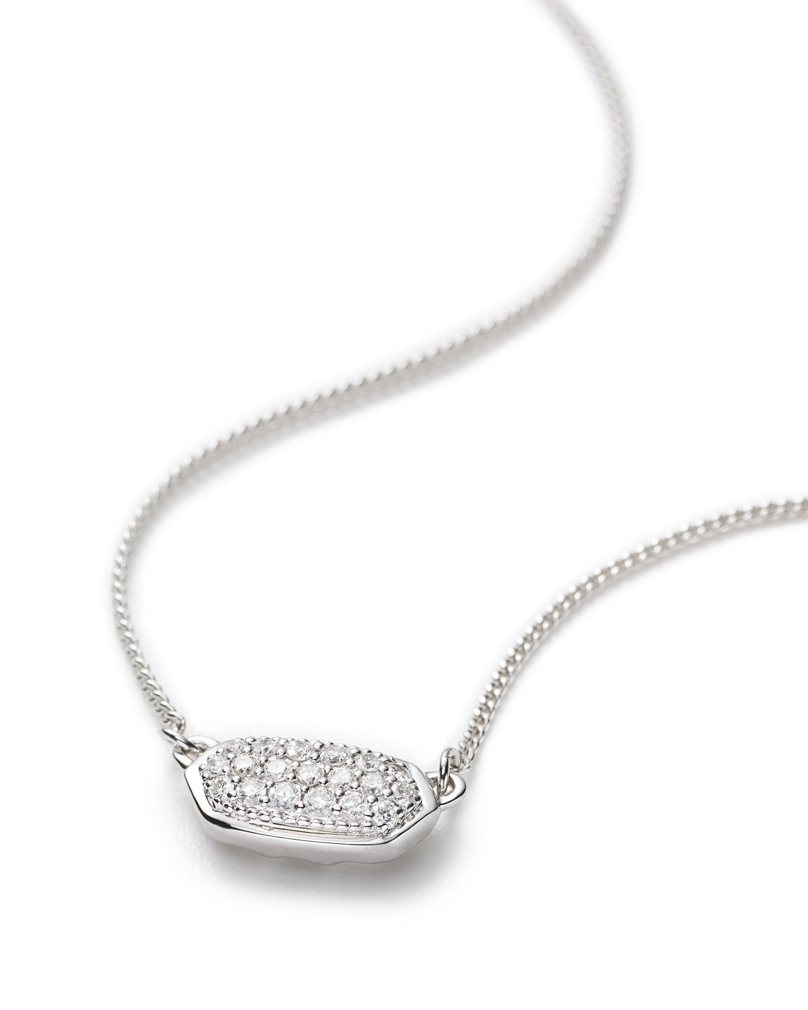 Lisa necklace pave diamond and 14k white gold kendra scott lisa pendant necklace in pave diamond and 14k white gold aloadofball Choice Image