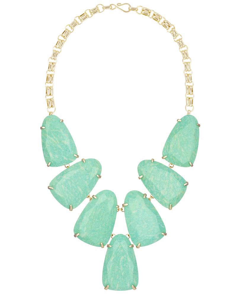 Harlow Statement Necklace in Amazonite
