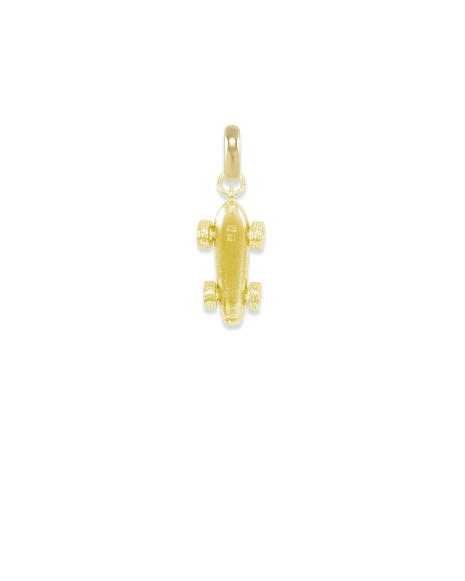 Indiana Race Car Charm in Gold