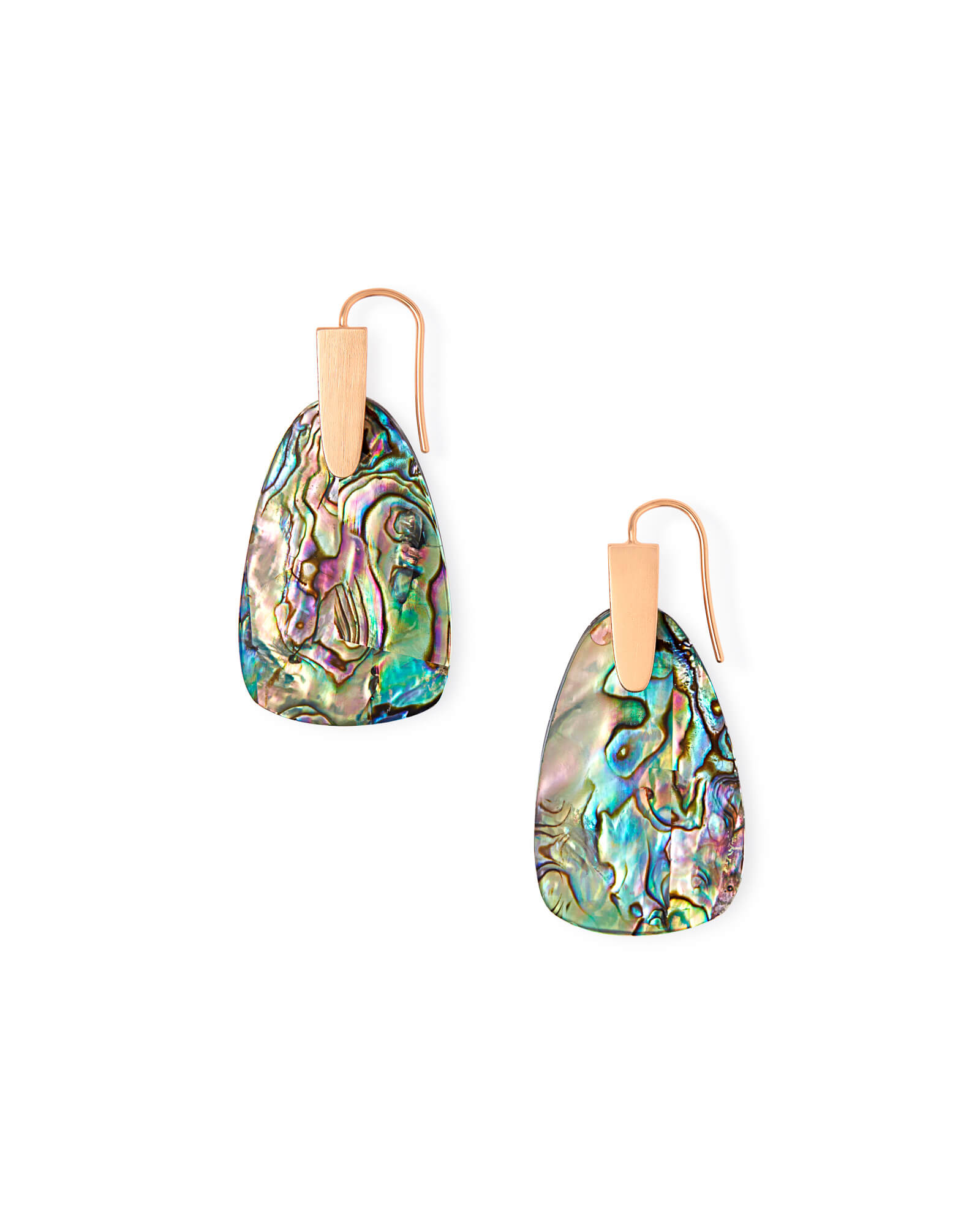 Marty Rose Gold Drop Earrings in Abalone Shell