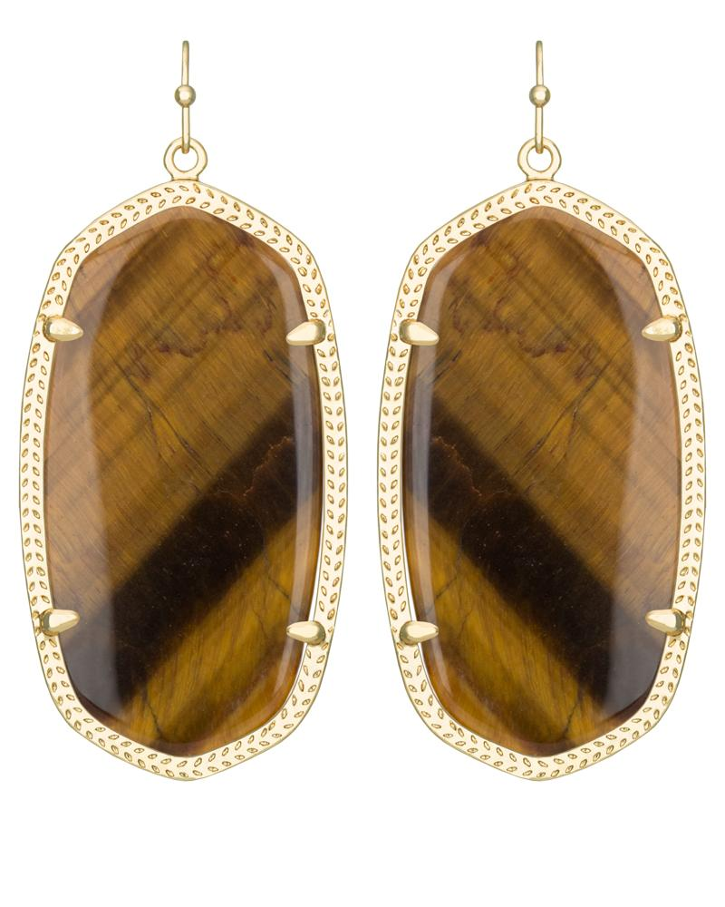 Danielle Earrings In Tiger S Eye