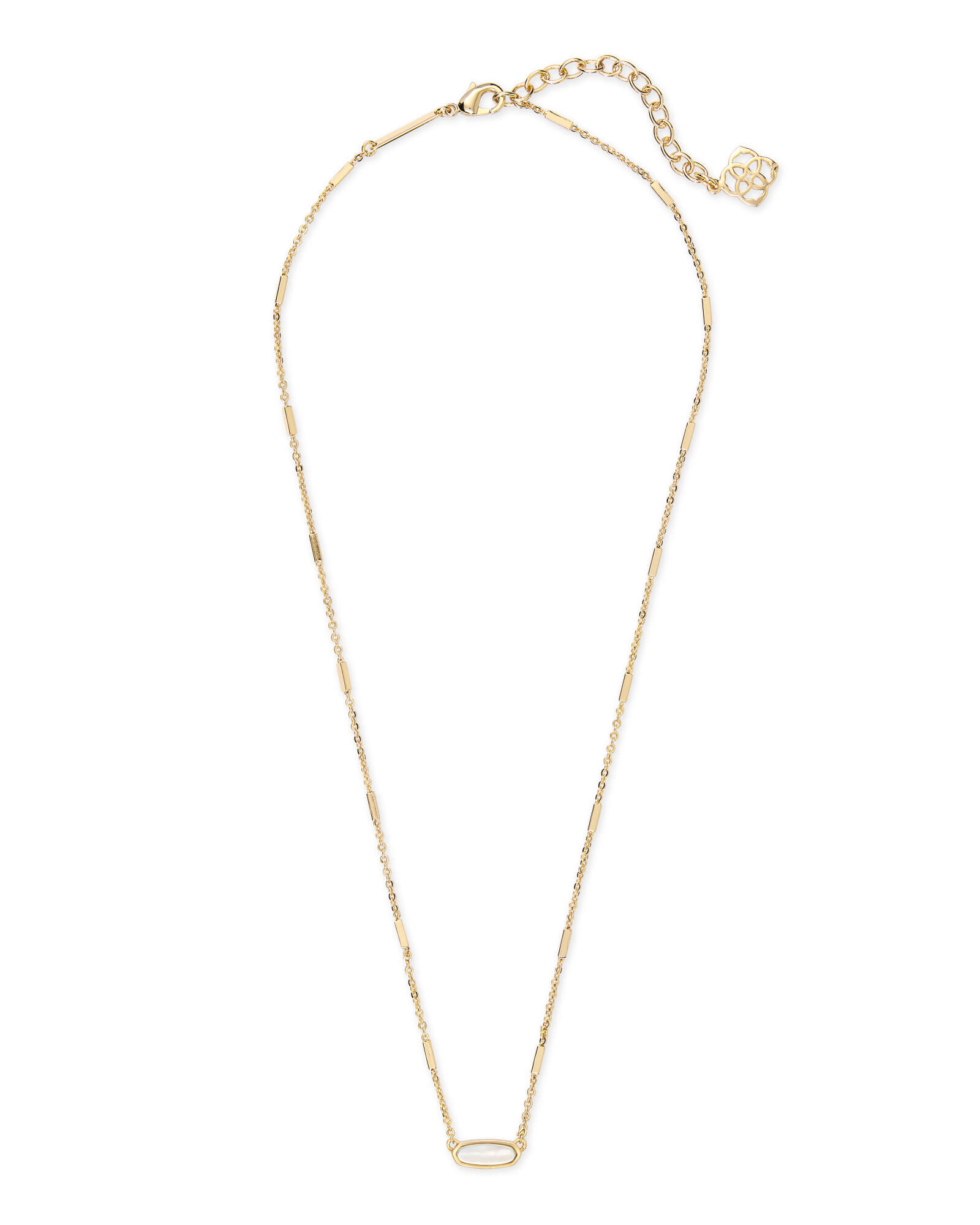 Miya Gold Pendant Necklace in Ivory Pearl