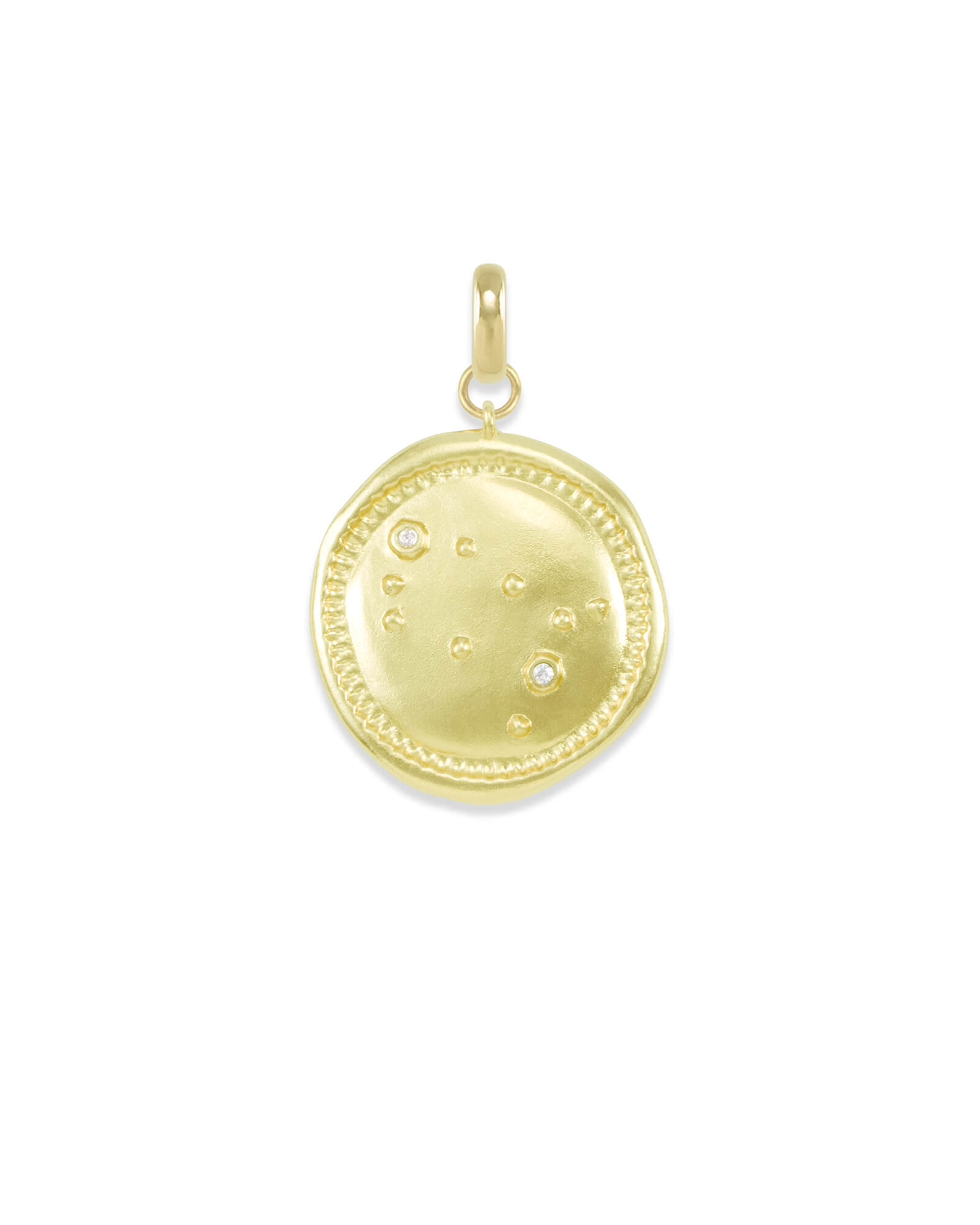 Gemini Coin Charm in Gold