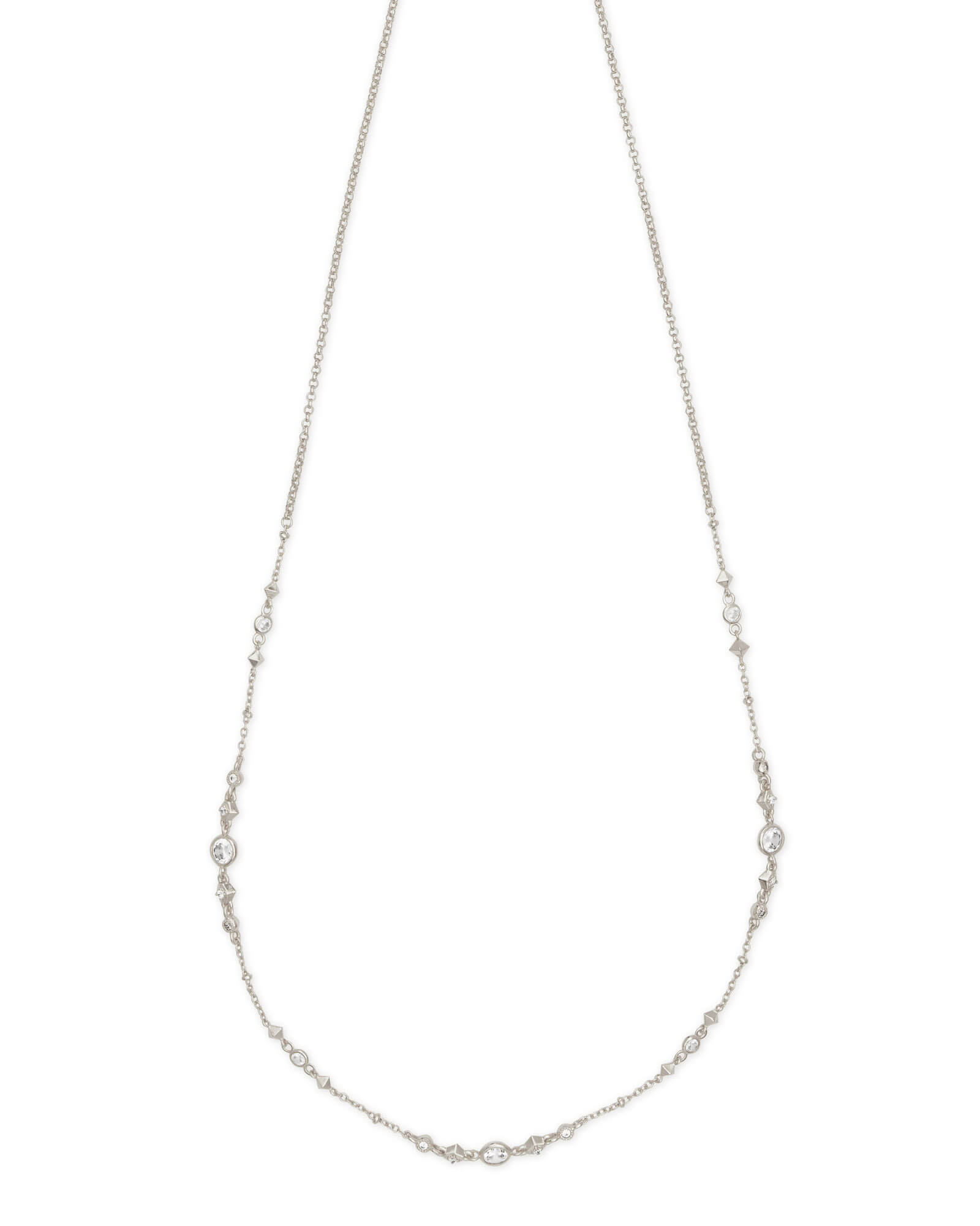 Winifred Y Necklace In Silver by Kendra Scott