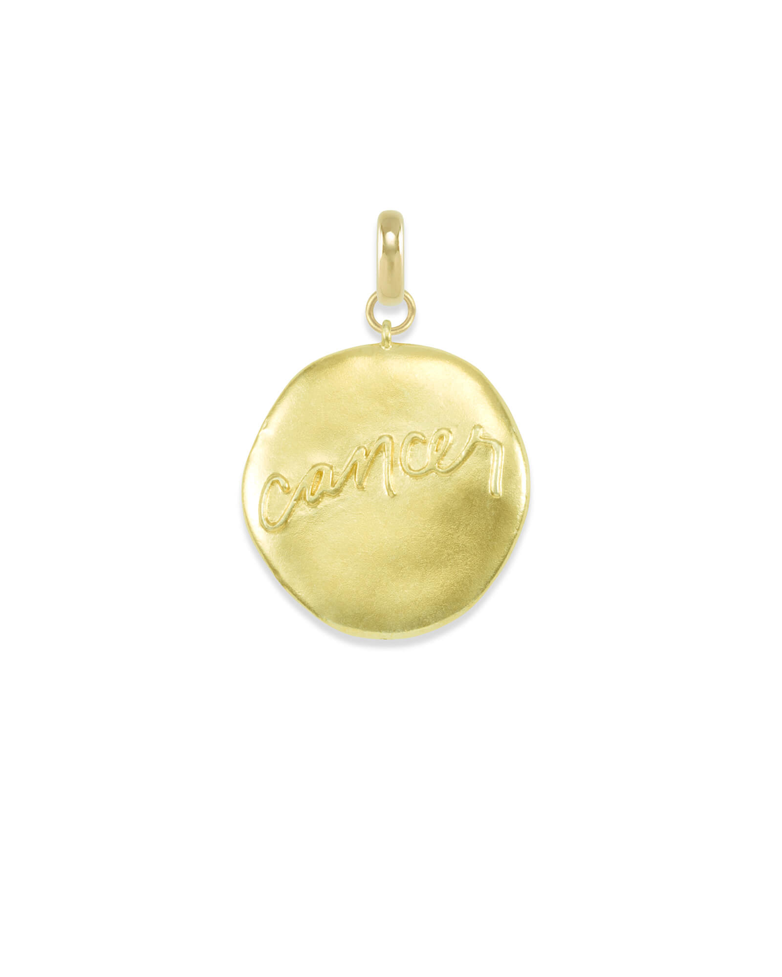 Cancer Coin Charm in Gold