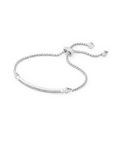 Ott Adjustable Chain Bracelet in Silver