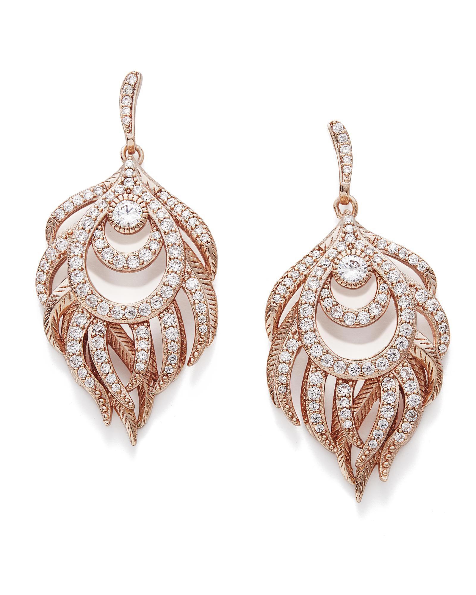 Emelia Chandelier Drop Earrings in Rose Gold