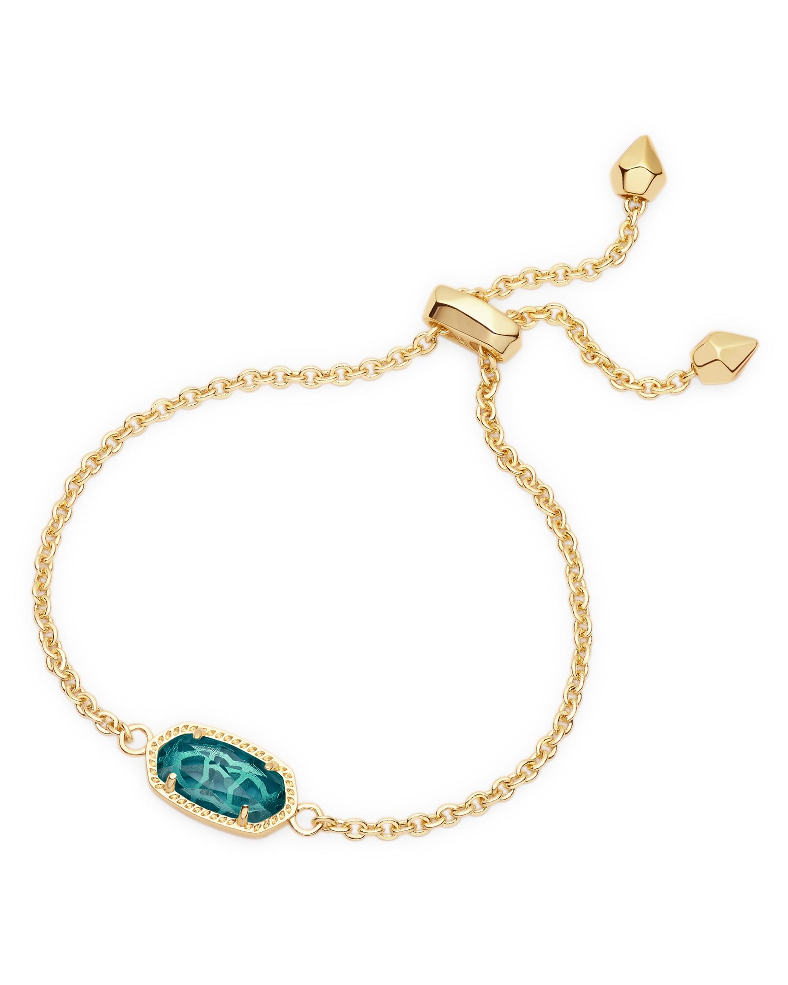 Elaina Adjustable Chain Bracelet in London Blue