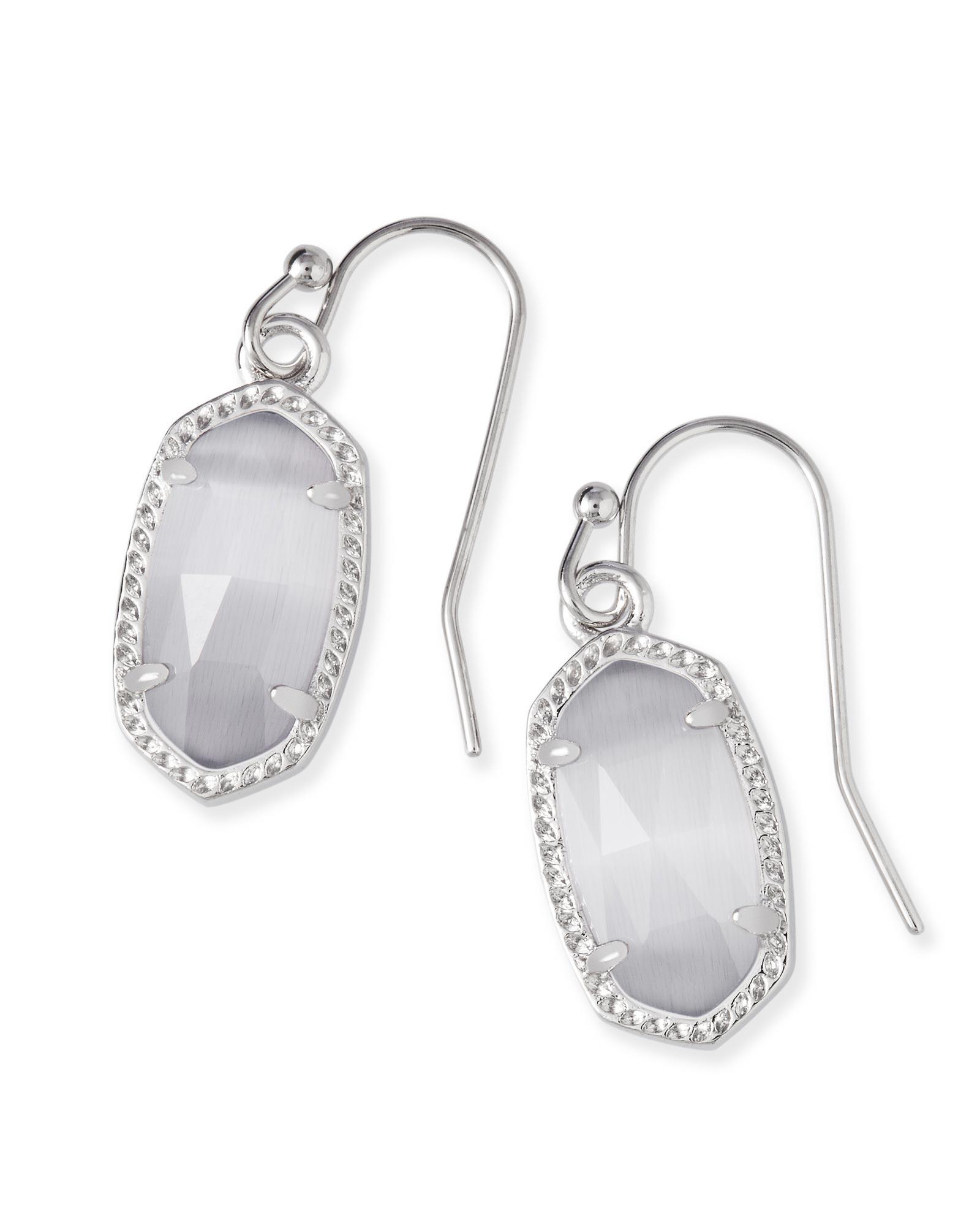 Lee Silver Earrings In Slate