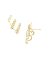 Billie Ear Climbers in Gold