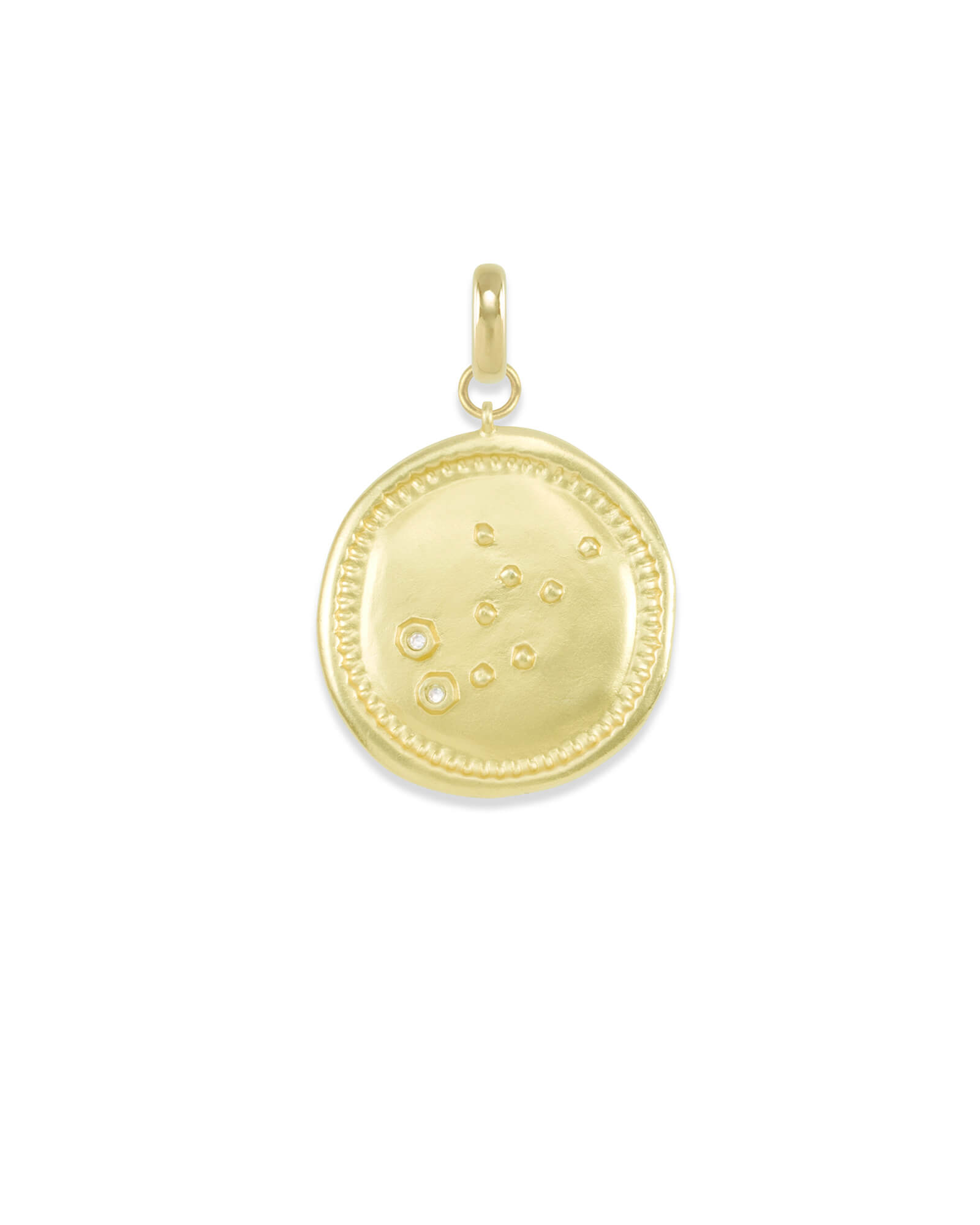 Virgo Large Coin Charm