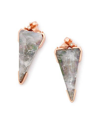 Libby Statement Earrings in Crystal Gray Illusion