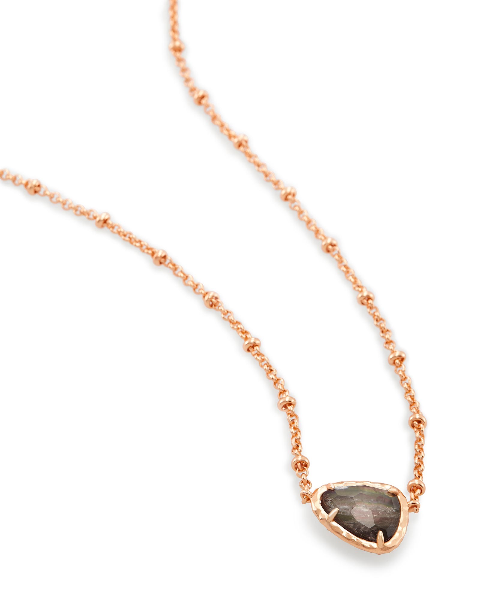 Arleen Pendant Necklace in Crystal Gray Illusion