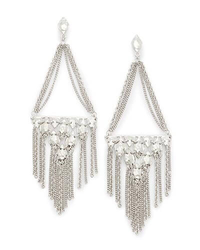 Mandy Statement Earrings in Silver