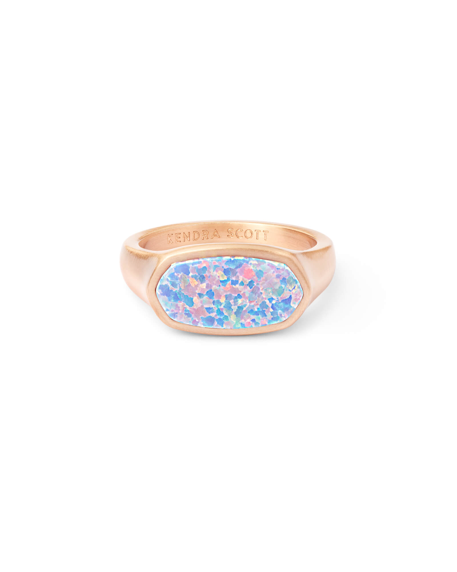Mel Rose Gold Cocktail Ring in Opal