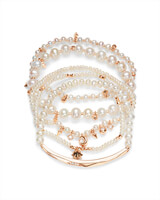 Supak Beaded Bracelet Set in Rose Gold