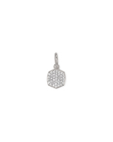 Davis Sterling Silver Charm in White Diamond