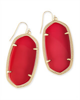 Danielle Earrings in Bright Red