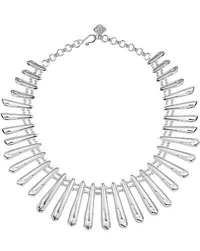 Jill Statement Necklace in Silver
