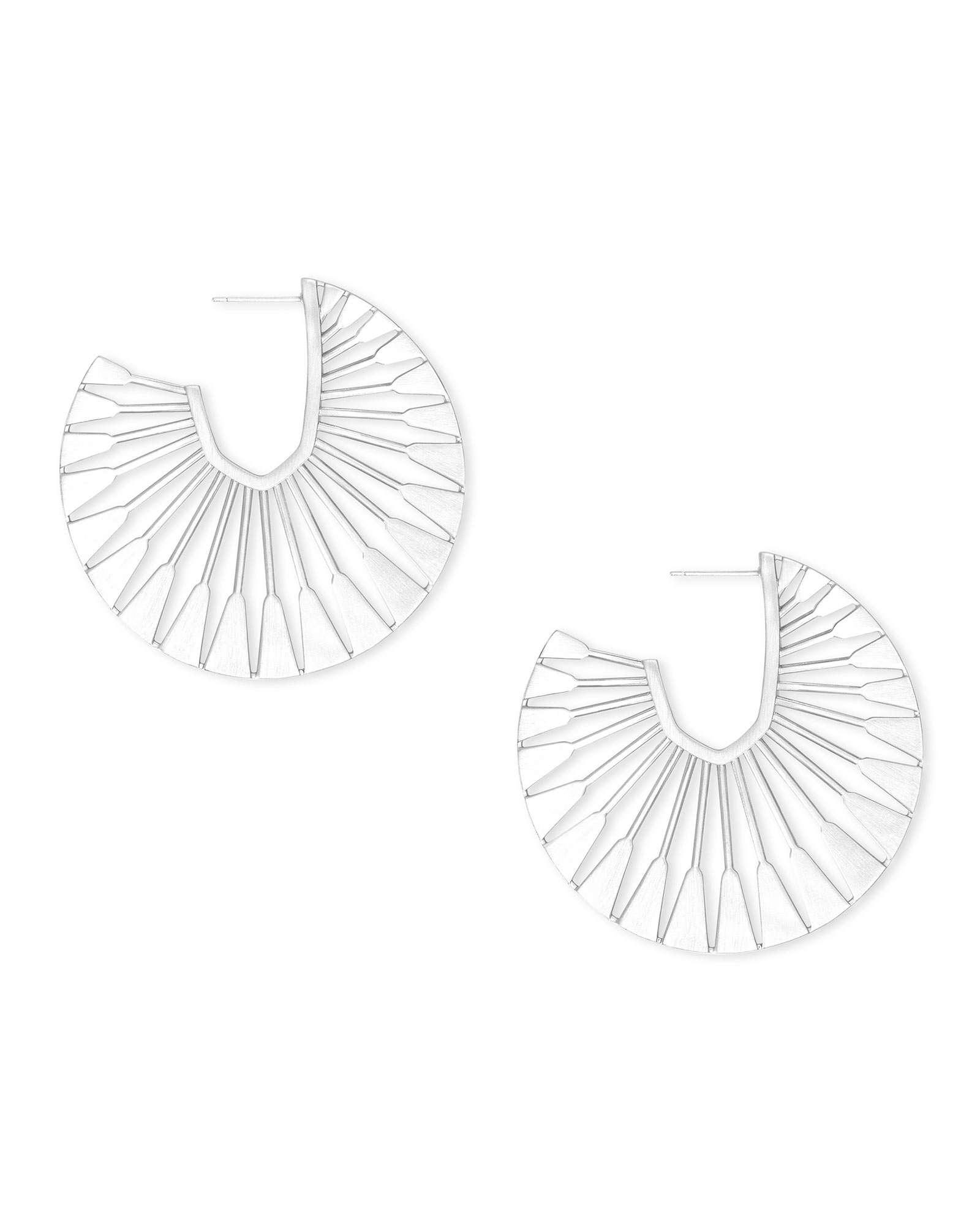 Deanne Hoop Earrings in Bright Silver