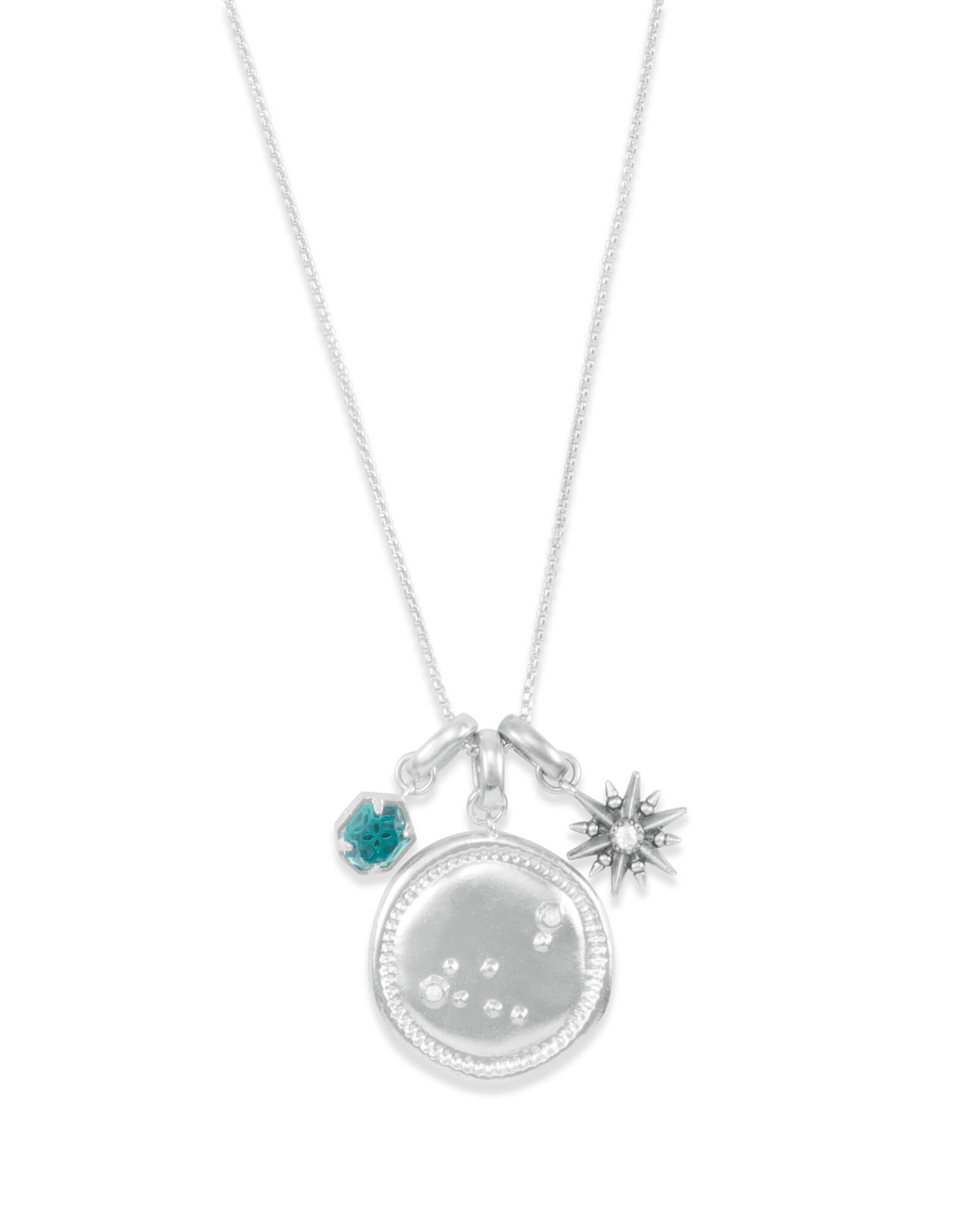 December Capricorn Charm Necklace Set in Silver