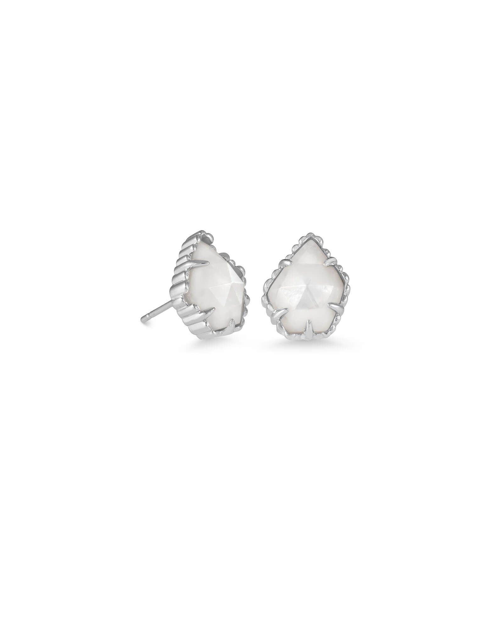 d5e849562 Tessa Silver Stud Earrings in Ivory Pearl | Kendra Scott