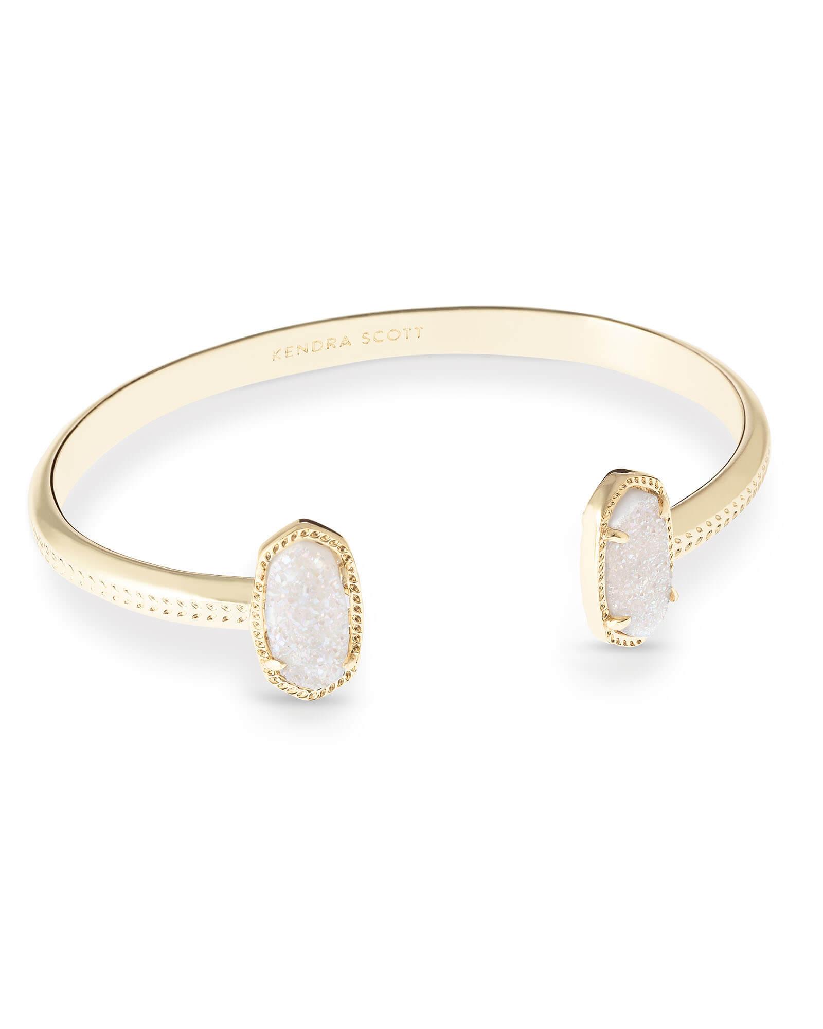 Elton Gold Bracelet In Iridescent Drusy