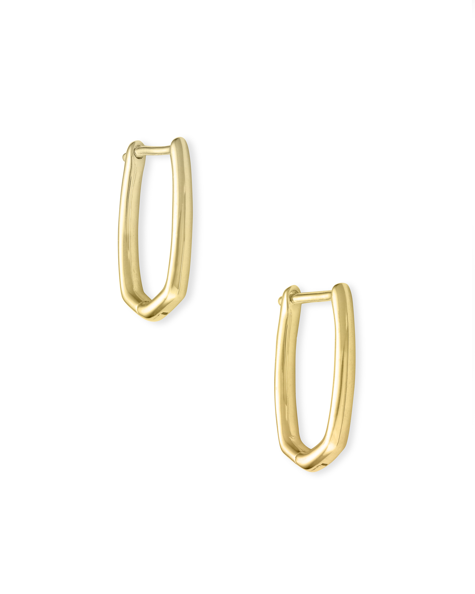 Ellen Huggie Earrings in 18k Gold Vermeil