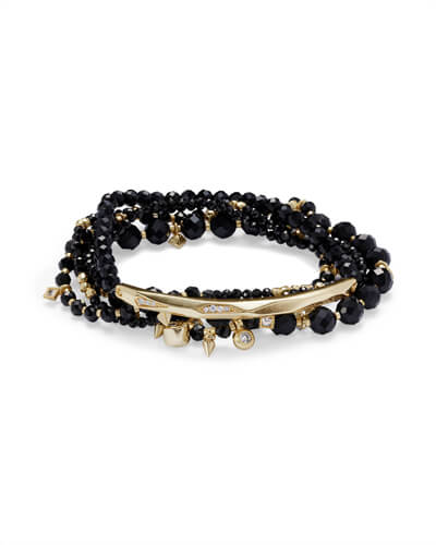 Supak Beaded Bracelet Set in Gold