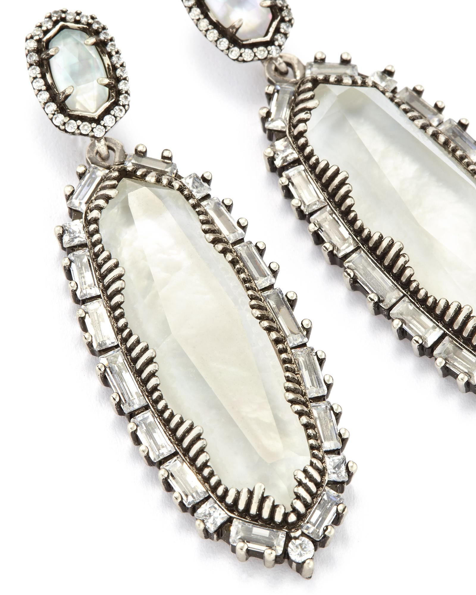 Kalina Statement Earrings in Antique Silver