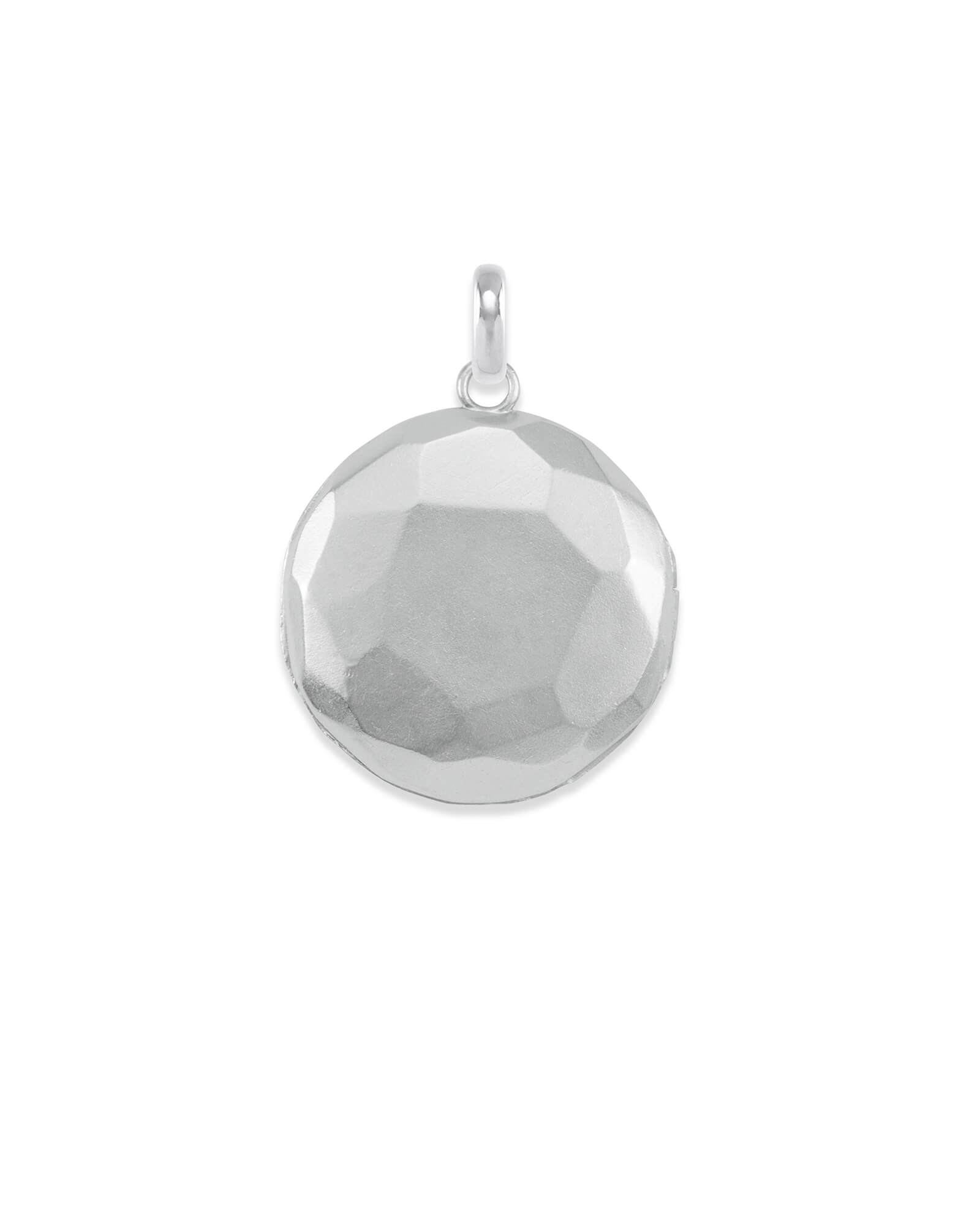 Large Locket Charm in Silver