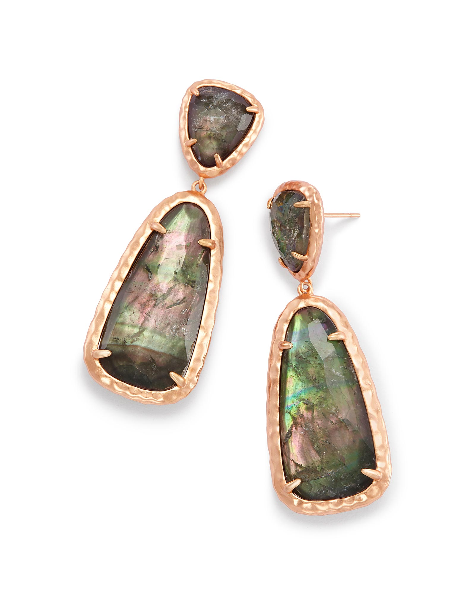 Daria Statement Earrings in Crystal Gray Illusion