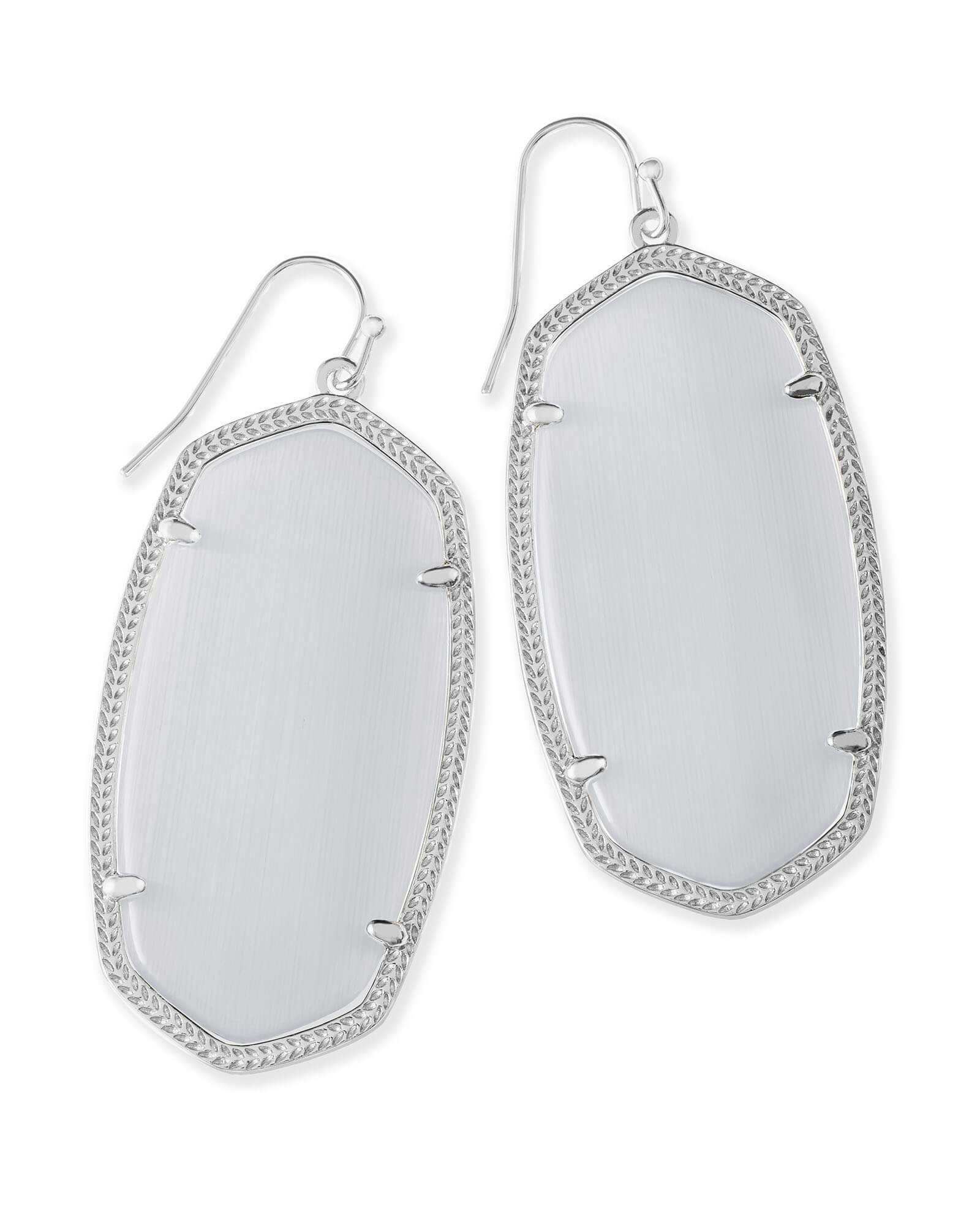 Danielle Statement Earrings in Silver