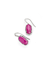 Lee Sterling Silver Drop Earrings in Pink Dyed Quartzite