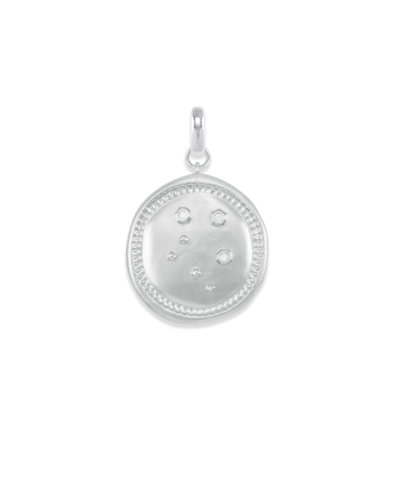 Libra Coin Charm in Silver