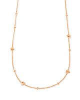 Presleigh Love Knot Adjustable Necklace in Rose Gold