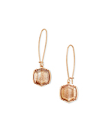 Davis Rose Gold Drop Earrings in Gold Dusted Pink Illusion