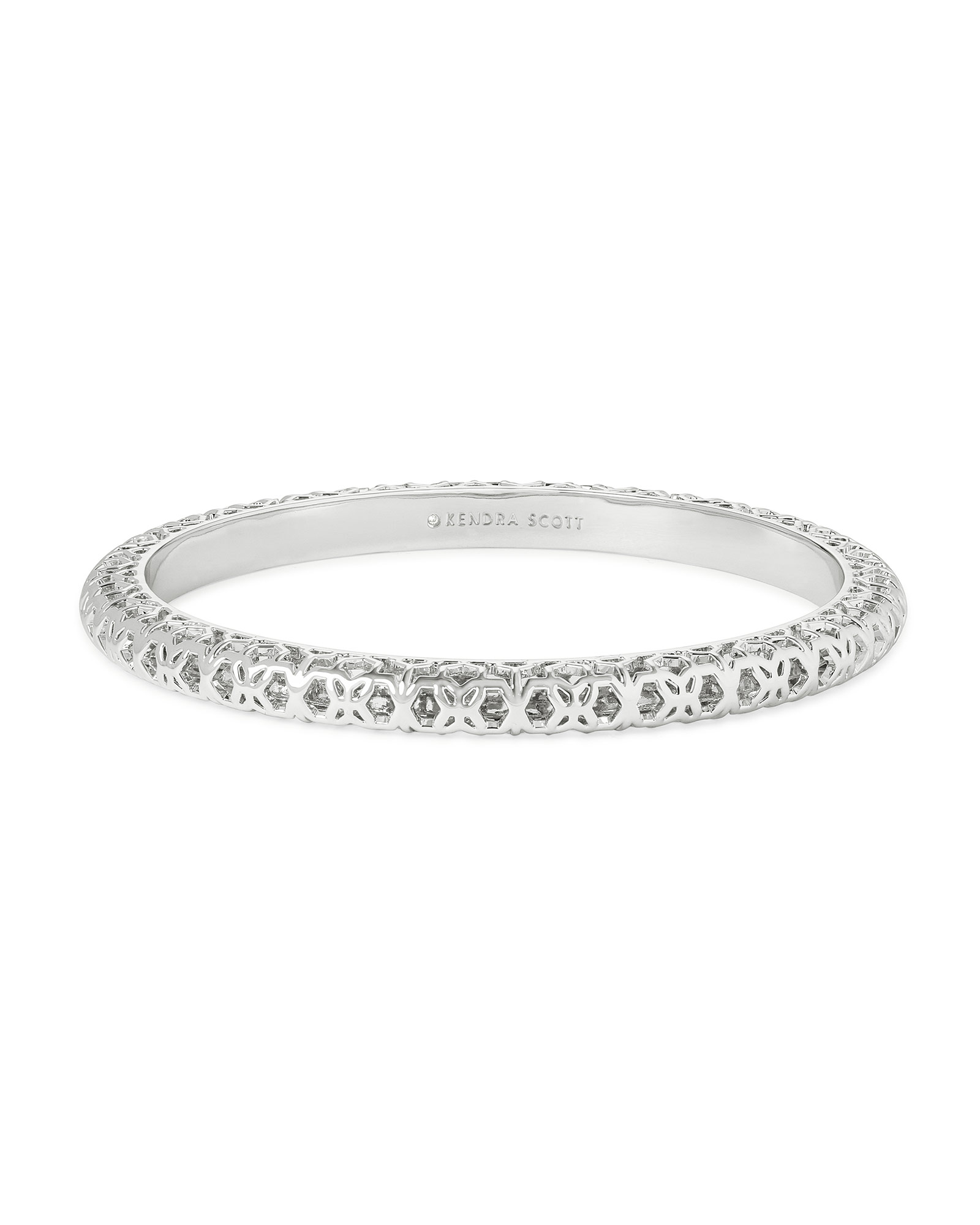 Maggie Bangle Bracelet in Silver Filigree