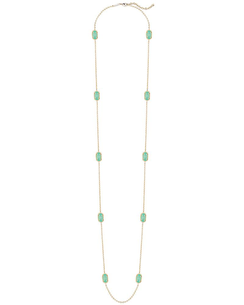 Kellie Long Necklace in Mint