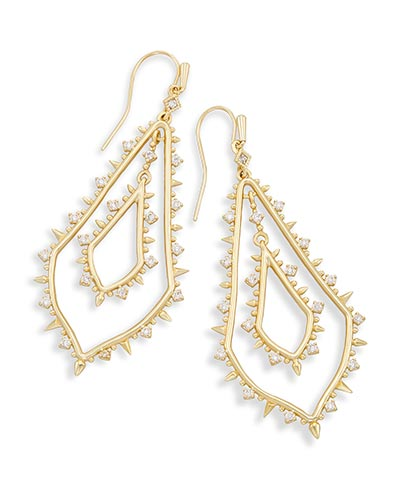 Alice Drop Earrings in Gold